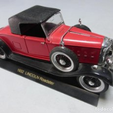 Coches a escala: 1932 LINCOLN ROADSTER . ESCALA 1.32 . BUEN ESTADO . Lote 202392842