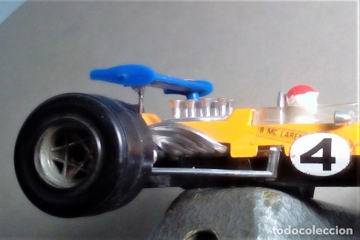 Coches a escala: POLITOYS F8 - McLAREN F1 #4 Racing Car GULF - B. Mc Laren - Escala 1/32 Metal - VINTAGE - Foto 3 - 52277957