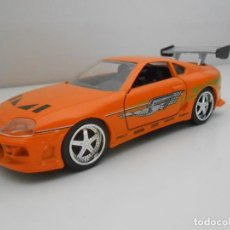 Coches a escala: COCHE 1995 TOYOTA SUPRA FAST & FURIOUS METAL MODEL CAR MINIATURE 1:32 1/32 FURIUS JADA. Lote 210586166