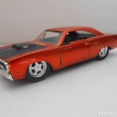 Coches a escala: COCHE 1970 PLYMOUTH ROAD RUNNER FAST & FURIOUS METAL MODEL CAR MINIATURE 1:32 1/32 FURIUS JADA. Lote 210586363