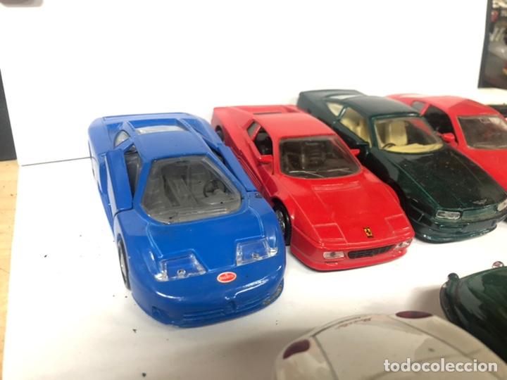 Coches a escala: Lote de 9 coches colección MAISTO SHELL FERRARI BUGATTI PORSCHE JAGUAR ETC... - Foto 6 - 211271232