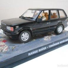 Coches a escala: JAMES BOND COCHE RANGE ROVER NEGRO 1/43 1:43 METAL MODEL CAR ALFREEDOM. Lote 213889468