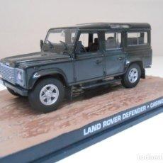 Coches a escala: JAMES BOND COCHE LAND ROVER DEFENDER 1/43 1:43 METAL MODEL CAR. Lote 213890491