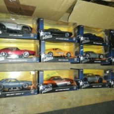 Coches a escala: FAST AND FURIOUS,( 12 COCHES) ESCALA 1:32, DIE CAST. Lote 221690577