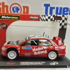 Coches a escala: SAICO COCHE MODELO ESCALA 1/32 TY3315 - 2006 MITSUBISHI LANCER WRC D. CARISSON-ROJO. Lote 222068677