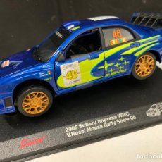 Coches a escala: ESPECTACULAR SUPARU IMPREZA WRC - SAICO - V.ROSSI, 1:32 COCHE METALICO, IMPECABLE. CAJA ORIGINAL. Lote 223462575