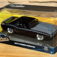 Coches a escala: FAST AND FURIOUS - COCHE LETTY PLYMOUTH BARRACUDA - NUEVO Y EN SU CAJA ORIGINAL - PERFECTO ESTADO. Lote 227722990