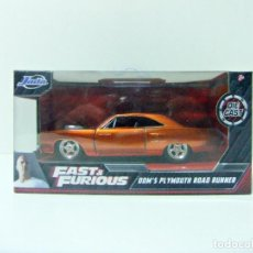 Coches a escala: DOM´S PLYMOUTH ROAD RUNNER FAST & FURIOUS - JADA ESCALA 1:32 COCHE DICKIE TOYS MUSCLE CAR. Lote 229749680
