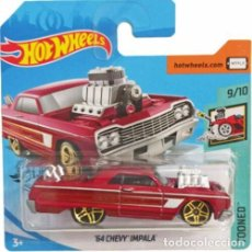 Coches a escala: HOT WHEELS - GHF89 - TOONED 2020 9/10 - 58/250 - '64 CHEVY IMPALA - HOT WHEELS. Lote 286792893