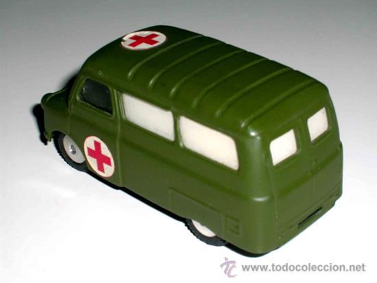 Coches a escala: Bedford ambulancia militar ref. 405, fabricada en metal por la casa Corgitoys, años 60. Excelente - Foto 2 - 26403657