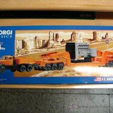 Coches a escala: CORGI CLASSICS 55301 ALLIED DIAMOND T980 & 24 WHEEL GIRDER TRAILER W. GENERATOR LOAD NUEVO EN CAJA.. Lote 31821917