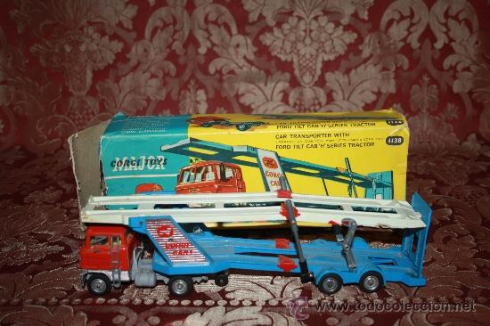 CORGI TOYS - CAR TRANSPORTER WITH FORD TILT CAB 'H' SERIES TRACTOR 1138 - AÑOS 60 - CAJA ORIGINAL (Juguetes - Coches a Escala 1:43 Corgi Toys)