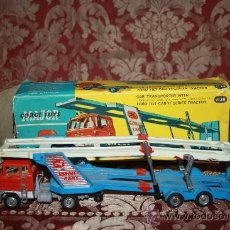 Coches a escala: CORGI TOYS - CAR TRANSPORTER WITH FORD TILT CAB 'H' SERIES TRACTOR 1138 - AÑOS 60 - CAJA ORIGINAL. Lote 35683979