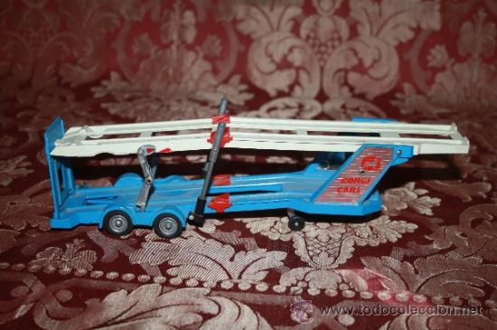 Coches a escala: CORGI TOYS - CAR TRANSPORTER WITH FORD TILT CAB 'H' SERIES TRACTOR 1138 - AÑOS 60 - CAJA ORIGINAL - Foto 10 - 35683979