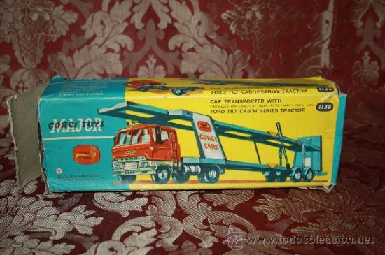 Coches a escala: CORGI TOYS - CAR TRANSPORTER WITH FORD TILT CAB 'H' SERIES TRACTOR 1138 - AÑOS 60 - CAJA ORIGINAL - Foto 19 - 35683979