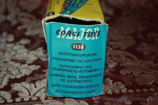 Coches a escala: CORGI TOYS - CAR TRANSPORTER WITH FORD TILT CAB 'H' SERIES TRACTOR 1138 - AÑOS 60 - CAJA ORIGINAL - Foto 20 - 35683979
