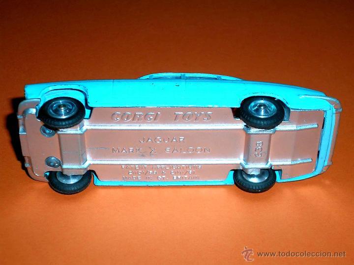 Coches a escala: Jaguar Mark X Saloon 238, fabricado en metal, Corgi Toys, original años 60. - Foto 8 - 41493123
