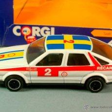Coches a escala: CORGI C106 1/43 - MADE IN G.B. 1984 - SAAB 9000 SHELL RECARO - METAL VINTAGE NUEVO EN CAJA. Lote 43357011