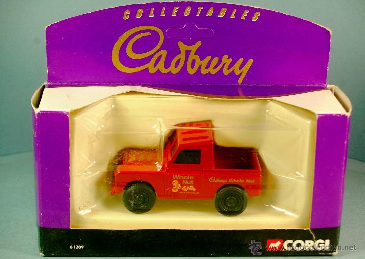 Coches a escala: CORGI 61209 1/43 1998 LAND ROVER CORTO PICK-UP Chocolates CADBURY PROMOCIONAL PUB Vintage NUEVO/CAJA - Foto 5 - 43364866