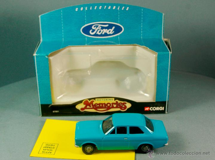 Coches a escala: CORGI 67001 1/43 1998- FORD ESCORT Mk-I Sedan - PROMOCIONAL FORD Collectables PUB Vintage NUEVO/CAJA - Foto 2 - 43365246
