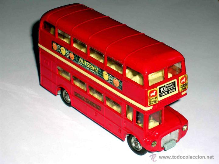 Coches a escala: Autobus dos pisos London Routemaster ref. 468, Corgi Toys, original años 60. - Foto 4 - 47465248