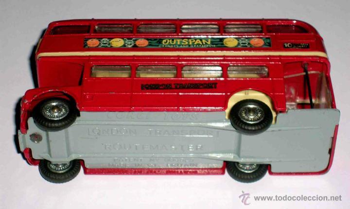 Coches a escala: Autobus dos pisos London Routemaster ref. 468, Corgi Toys, original años 60. - Foto 7 - 47465248