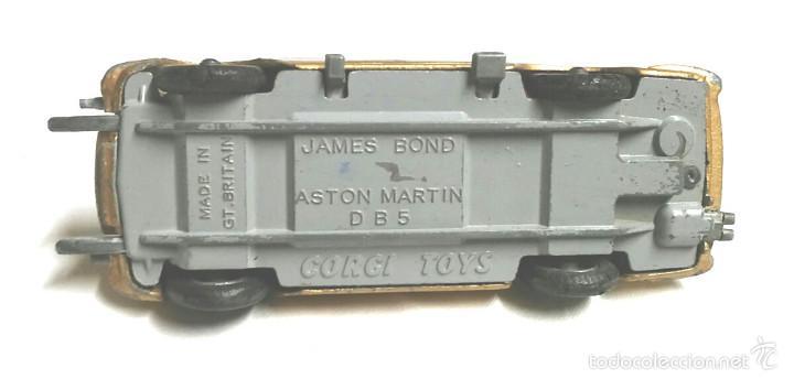Coches a escala: Coche Aston Martin DB5 James Bond 1era serie, de la casa Corgi Toys, años 60 - Foto 5 - 60860919