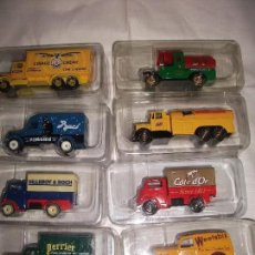 Coches a escala: CAMION - LOTE 8 CAMIONES CON PUBLICIDAD NUEVOS - SCAMMELL , BEDFORD, FORDSON, MORRIS, FORD TANKER. Lote 63433380