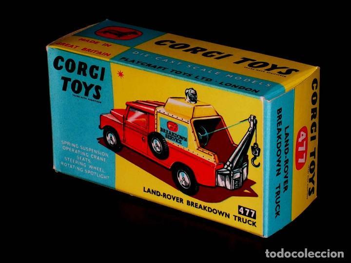 CAJA VACÍA EMPTY BOX LAND ROVER BREAKDOWN TRUCK Nº 477, ESC. 1/43, CORGI TOYS. ORIGINAL AÑOS 60. (Juguetes - Coches a Escala 1:43 Corgi Toys)