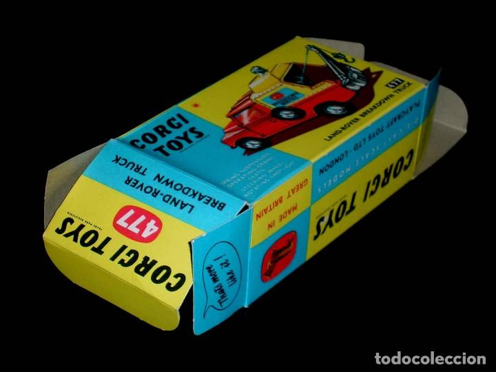 Coches a escala: Caja vacía empty box Land Rover Breakdown truck nº 477, esc. 1/43, Corgi Toys. Original años 60. - Foto 2 - 87429572