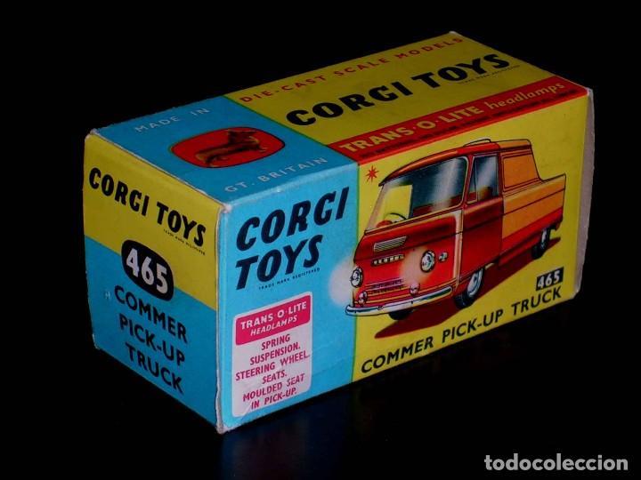 CAJA VACÍA EMPTY BOX COMMER PICK-UP TRUCK Nº 465, ESC. 1/43, CORGI TOYS. ORIGINAL AÑOS 60. (Juguetes - Coches a Escala 1:43 Corgi Toys)