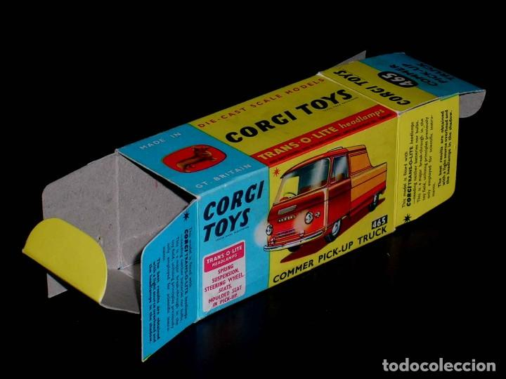Coches a escala: Caja vacía empty box Commer Pick-up truck nº 465, esc. 1/43, Corgi Toys. Original años 60. - Foto 2 - 87429696