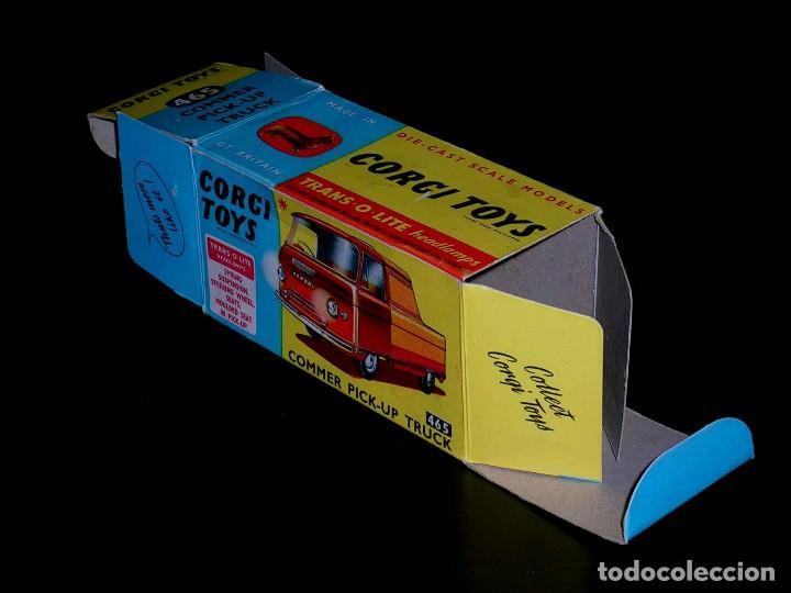 Coches a escala: Caja vacía empty box Commer Pick-up truck nº 465, esc. 1/43, Corgi Toys. Original años 60. - Foto 3 - 87429696