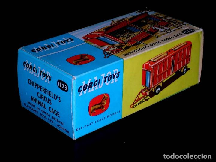 CAJA VACÍA EMPTY BOX CHIPPERFIELD´S CIRCUS ANIMAL CAGE 1123 ESC. 1/43, CORGI TOYS. ORIGINAL AÑOS 60. (Juguetes - Coches a Escala 1:43 Corgi Toys)