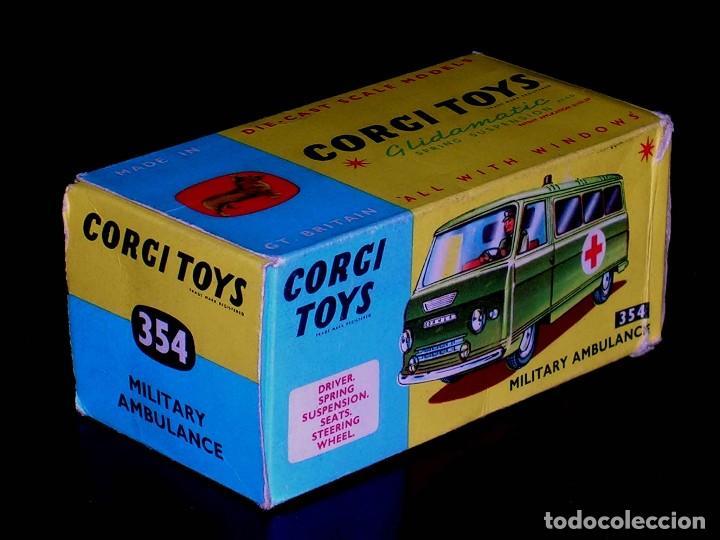 CAJA VACÍA EMPTY BOX COMMER MILITARY AMBULANCE REF. 354, ESC. 1/43, CORGI TOYS. ORIGINAL AÑOS 60. (Juguetes - Coches a Escala 1:43 Corgi Toys)