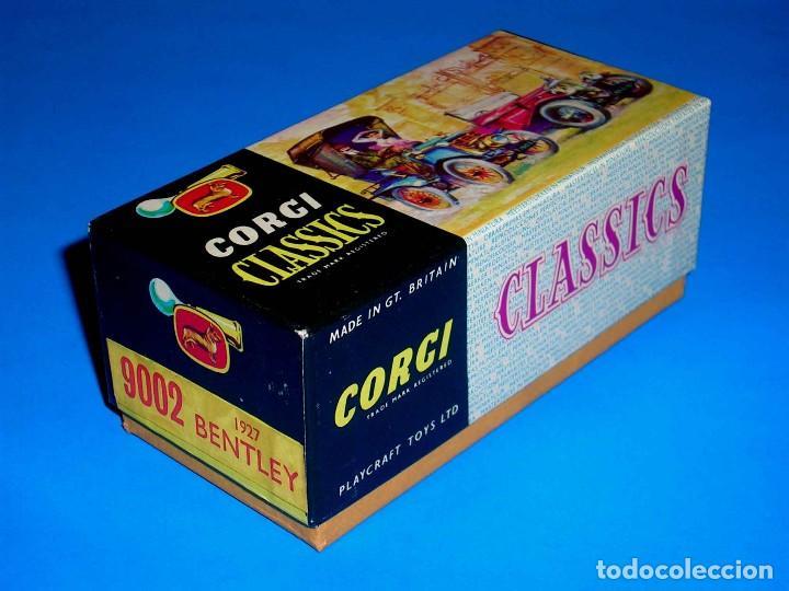 Coches a escala: Caja vacía empty box Bentley 1927 ref. 9002, esc. 1/43, Corgi Toys Classics. Original años 60. - Foto 2 - 87836096