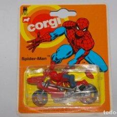 Coches a escala: CORGI 1/64 - SPIDER-MAN SPIDERMOTO _ N°57 _ #55090 _ 1975 MARVEL / MOC NEUVES!. Lote 95884371