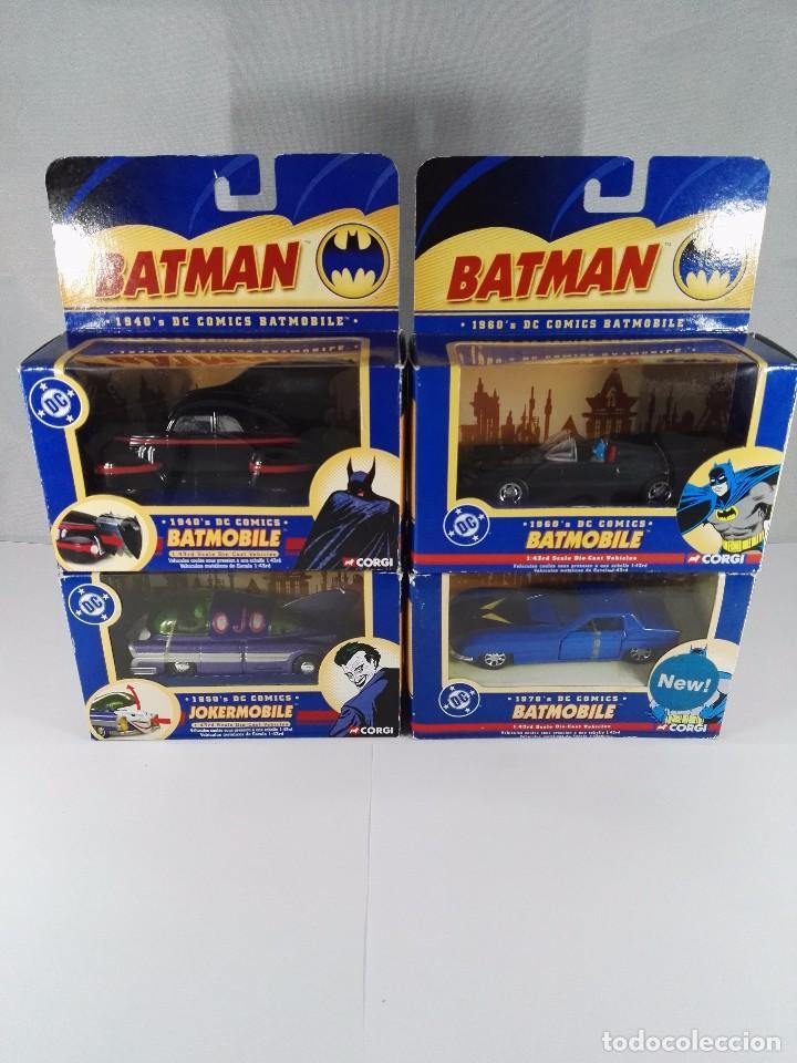 LOTE DE 4 VEHICULOS BATMAN DC COMICS CORGI ESCALA 1:43 (Juguetes - Coches a Escala 1:43 Corgi Toys)