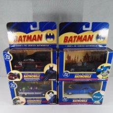 Coches a escala: LOTE DE 4 VEHICULOS BATMAN DC COMICS CORGI ESCALA 1:43. Lote 97782395