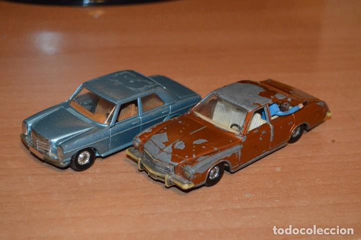 VINTAGE - LOTE DE 2 COCHES CORGI - ESCALA 1/36 - MERCEDES 240D / BUICK REGAL KOJAK - MADE IN GB - (Juguetes - Coches a Escala 1:43 Corgi Toys)