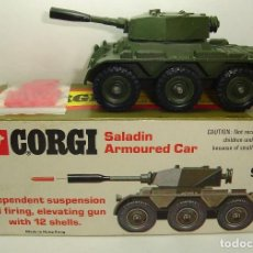 Coches a escala: ANTIGUA TANQUETA SALADIN ARMOURED CAR CORGI TOYS. Lote 110142519