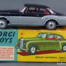 Coches a escala: BENTLEY CONTINENTAL SPORTS SALON CORGI TOYS 1/43 CON CAJA 224 AÑOS 60. Lote 120909743