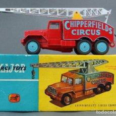 Coches a escala: CHIPPERFIELDS CIRCUS CRANE TRUCK CORGI TOYS MAJOR CAMIÓN CIRCO GRÚA 1/43 CAJA 1121 AÑOS 60. Lote 120911939