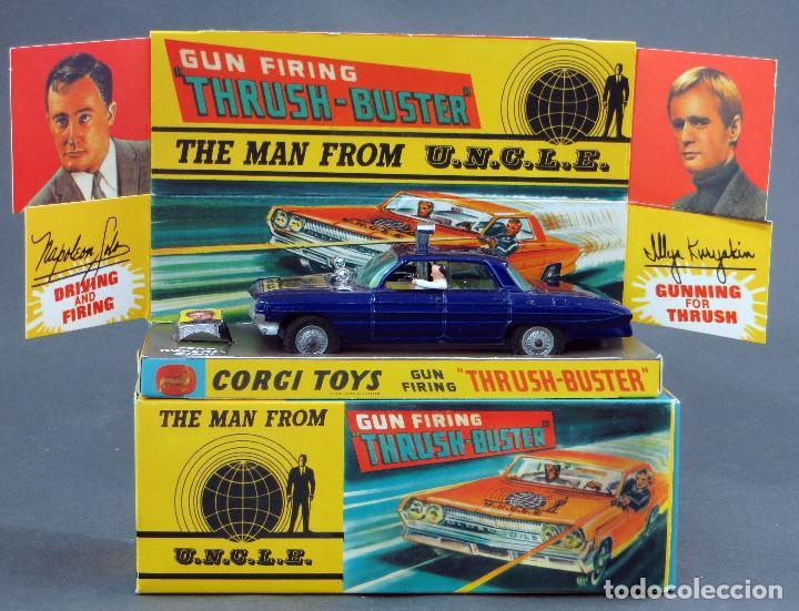 THE MAN FROM UNCLE GUN FIRING THRUSH BUSTER CORGI TOYS OLDSMOBILE SUPER 88 1/43 CAJA REPRO 497 1966 (Juguetes - Coches a Escala 1:43 Corgi Toys)