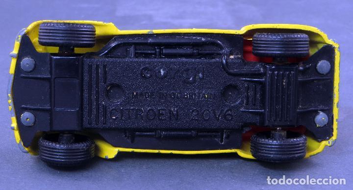 Coches a escala: Citroen 2 CV Corgi Toys 1/43 James Bond 007 amarillo 1981 - Foto 3 - 121616203