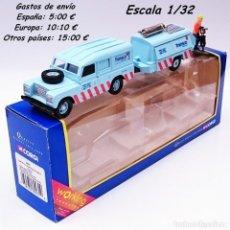 Coches a escala: CORGI SET 60031 TRANSCO LAND ROVER COMPRESOR TALADRO + FIGURA. Lote 93718545