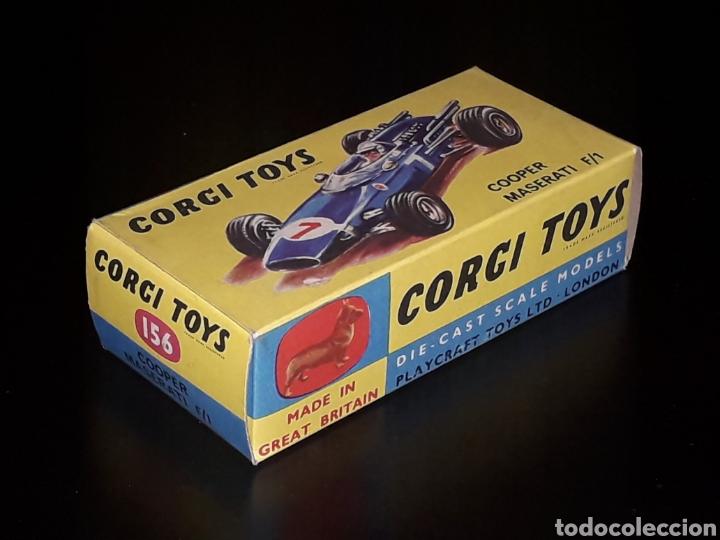 CAJA VACÍA EMPTY BOX COOPER MASERATI F-1 Nº 156, ESC. 1/43, CORGI TOYS. ORIGINAL AÑOS 60. (Juguetes - Coches a Escala 1:43 Corgi Toys)