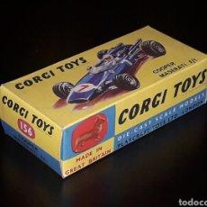 Coches a escala: CAJA VACÍA EMPTY BOX COOPER MASERATI F-1 Nº 156, ESC. 1/43, CORGI TOYS. ORIGINAL AÑOS 60.. Lote 141461486