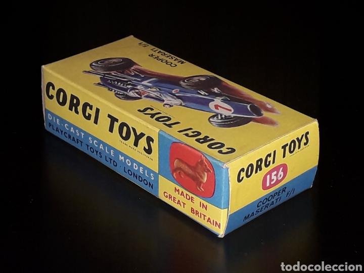 Coches a escala: Caja vacía empty box Cooper Maserati F-1 nº 156, esc. 1/43, Corgi Toys. Original años 60. - Foto 4 - 141461486
