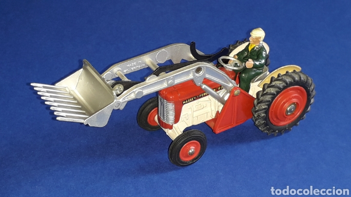 Coches a escala: Tractor Massey Ferguson 65 Shovel ref. 53, esc. 1/43, Corgi Toys. Original años 50-60. - Foto 3 - 153744142